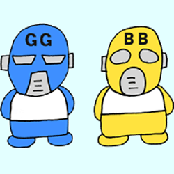 GGとBB仮面全身のイラスト