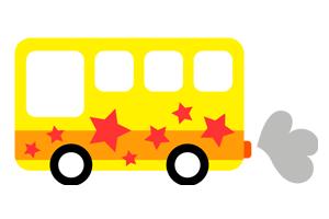 黄色のバスのイラスト