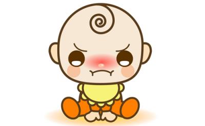 赤ちゃんのイライラ01