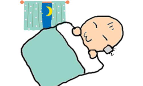 赤ちゃんがぐっすり眠っているイラスト