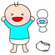 トイトレをする子供のイラスト